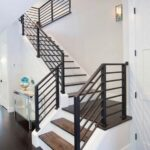 Stylish Modern Stair Railings Interior Photo 415