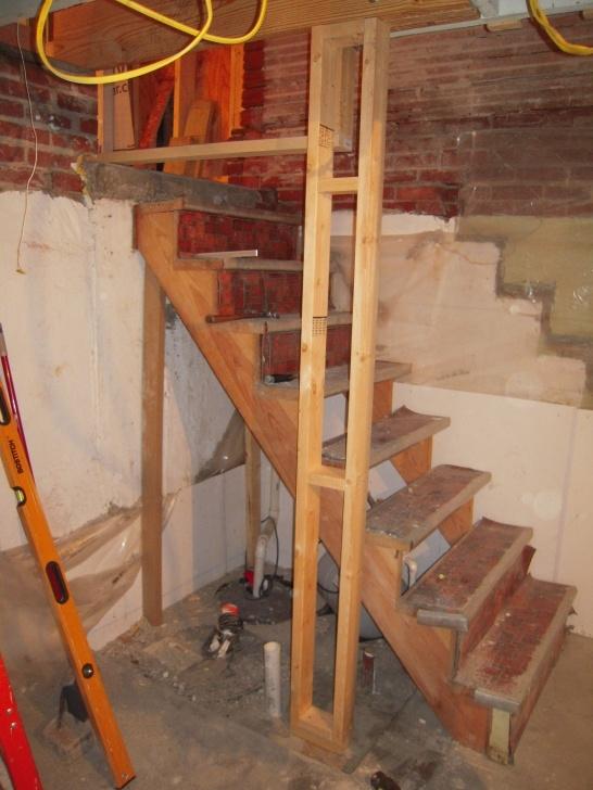 Stylish Narrow Basement Stairs Image 321
