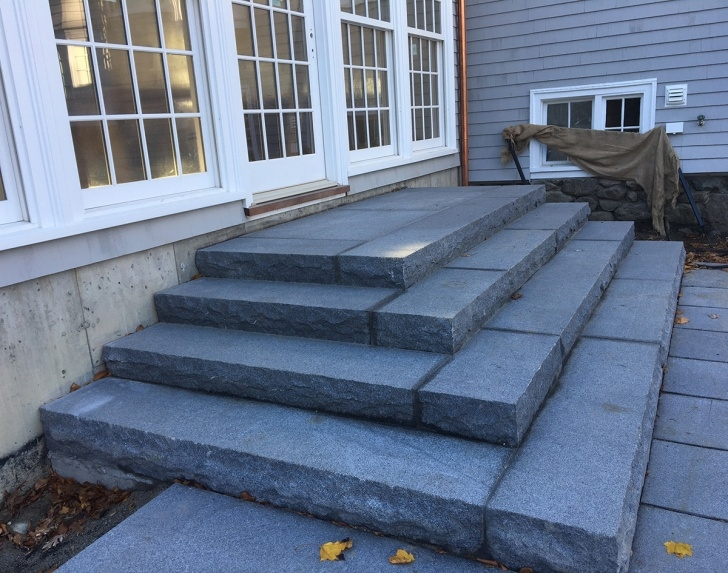 Stylish Outdoor Granite Steps Photo 735