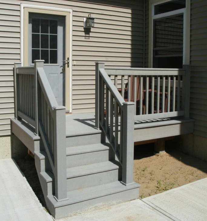Stylish Outdoor Wood Stair Railing Photo 298