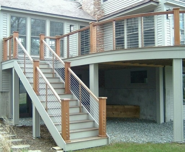 Stylish Outer Staircase Design Photo 338
