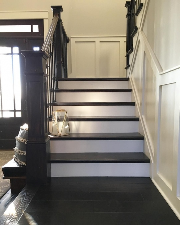 Stylish Painted And Stained Stairs Photo 515