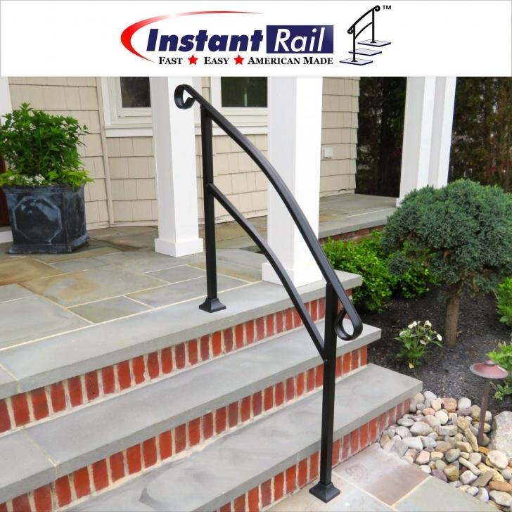 Stylish Railing For Concrete Steps Photo 981