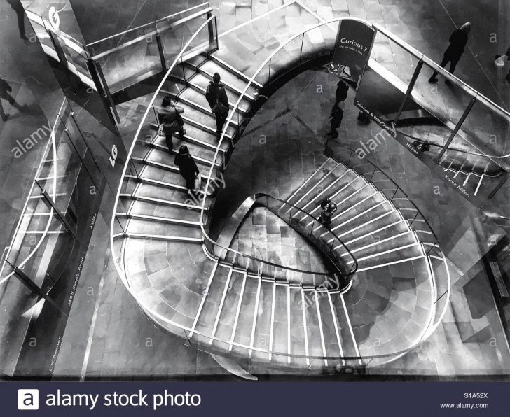 Stylish Spiral Stair People Image 270