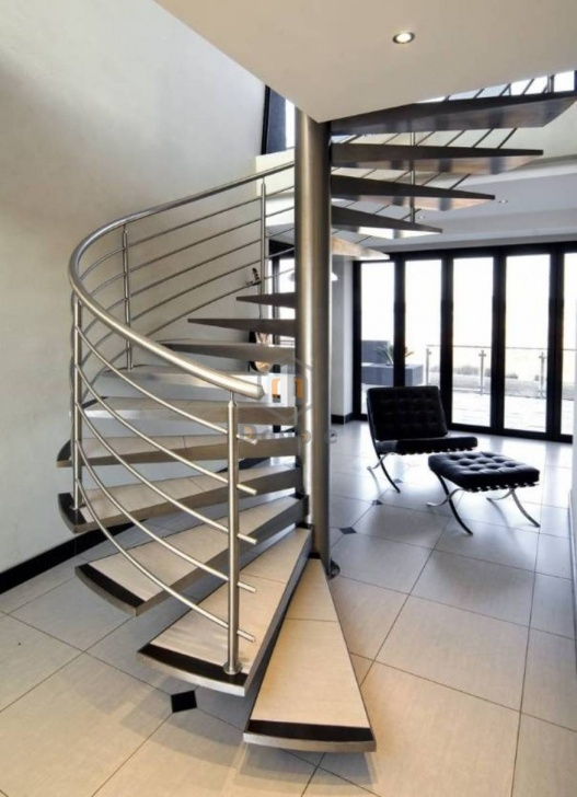 Stylish Stainless Steel Staircase Picture 695