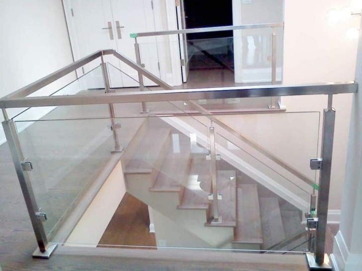 Stylish Stainless Steel Staircase With Glass Designs Picture 060