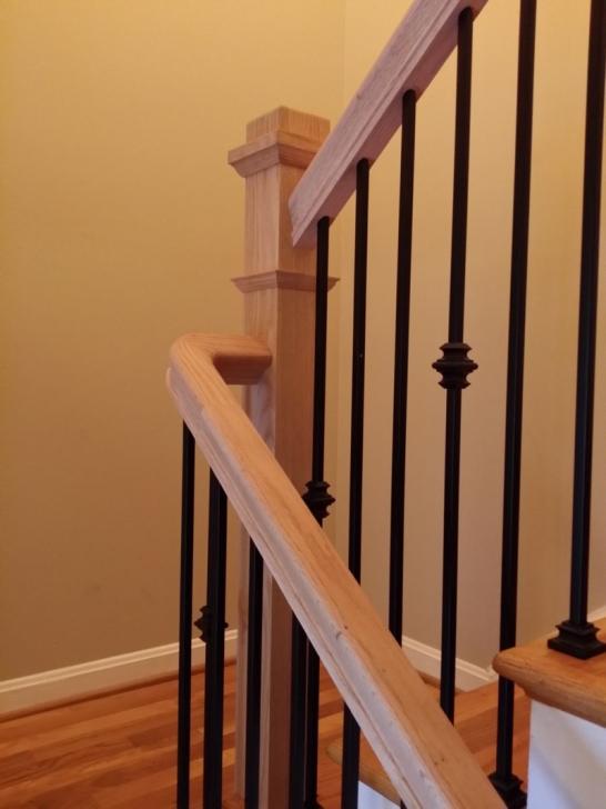Stylish Stair Railing Posts Photo 753