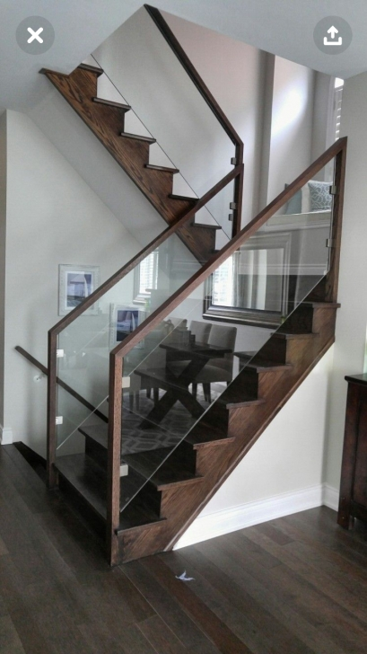 Stylish Steps Railing Designs With Glass Picture 080