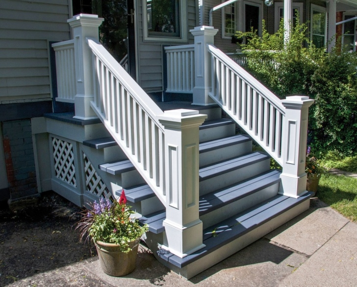 Stylish Wooden Porch Steps Image 078