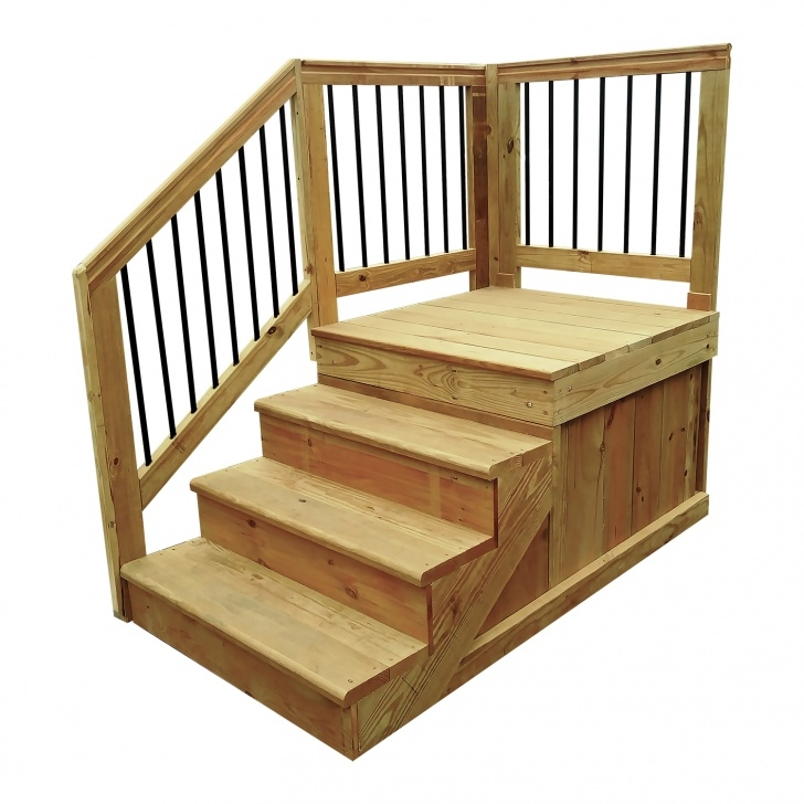 Stylish Wooden Stairs For Mobile Home Picture 320
