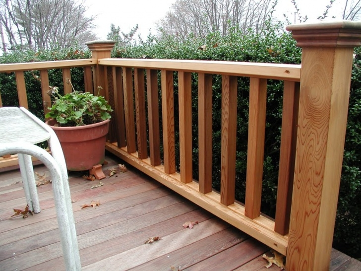 Super Cool Exterior Wood Handrail Image 913