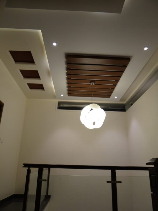 Super Cool False Ceiling Over Stairs Photo 022