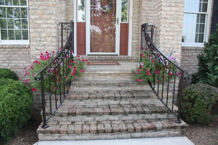 Super Cool Front Step Railing Picture 080