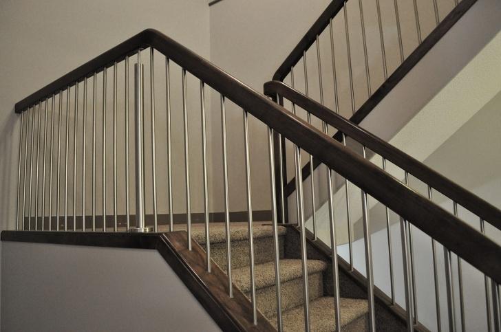 Super Cool Interior Metal Stair Railing Image 086