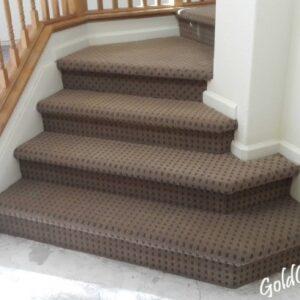 Loop Pile Carpet On Stairs
