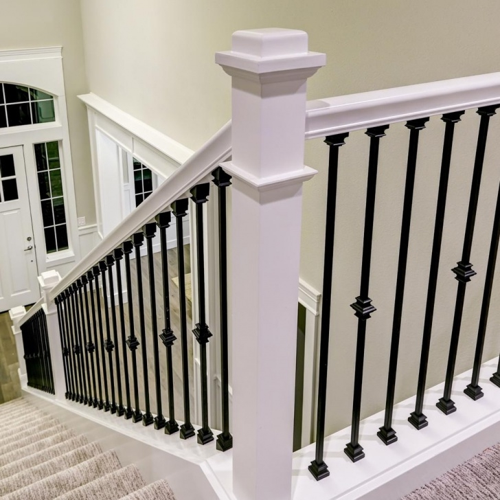 Super Cool Metal Balusters Interior Image 934