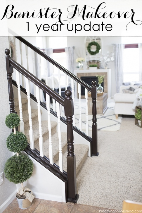 Super Cool Refinish Stair Railing Photo 646