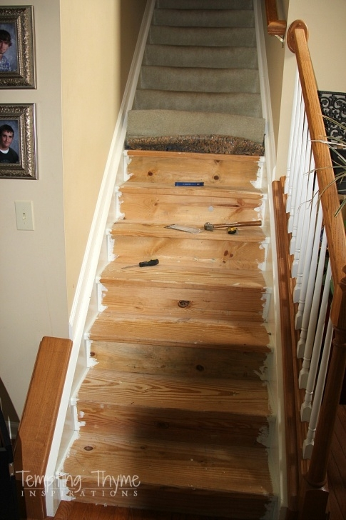 Super Cool Replacing Carpeted Stairs With Wood Picture 115