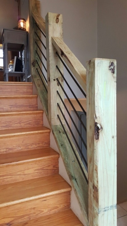 Super Cool Rustic Stair Railing Photo 383