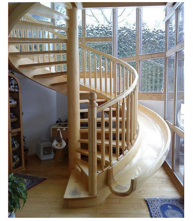 Super Cool Spiral Staircase With Slide Picture 431