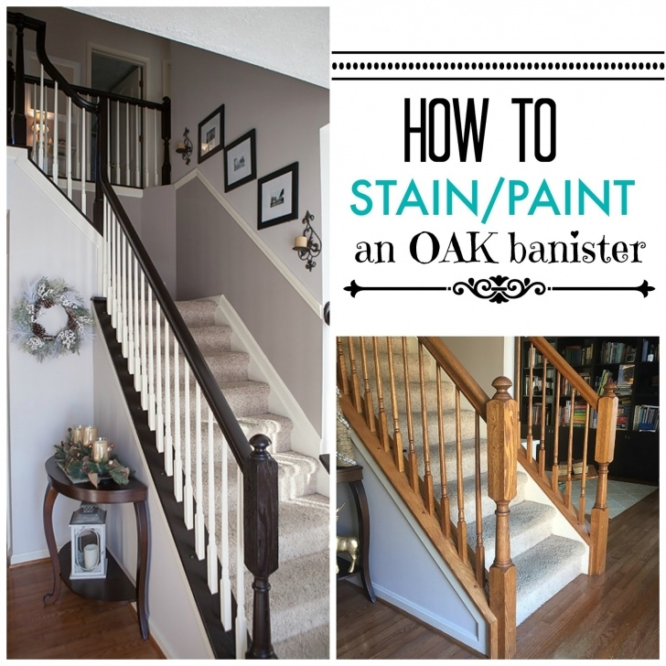Super Cool Staining A Stair Railing Photo 919
