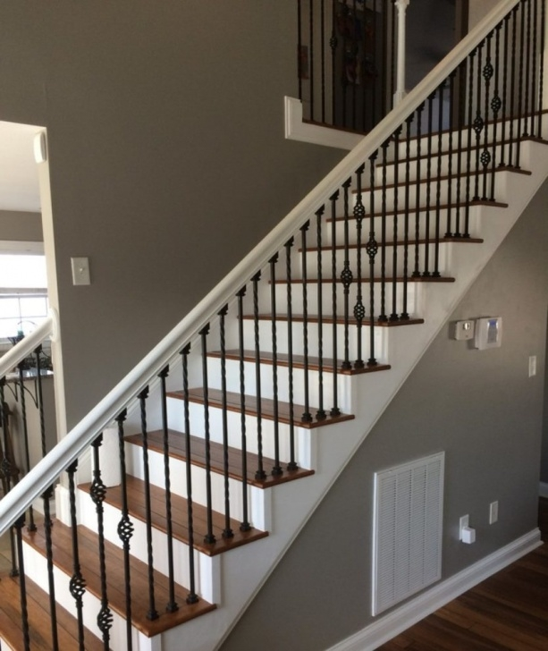 Super Cool Wood And Iron Stair Railing Image 439
