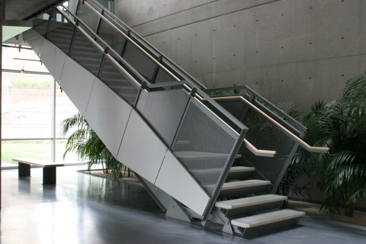Surprising Metal Pan Concrete Stairs Image 611
