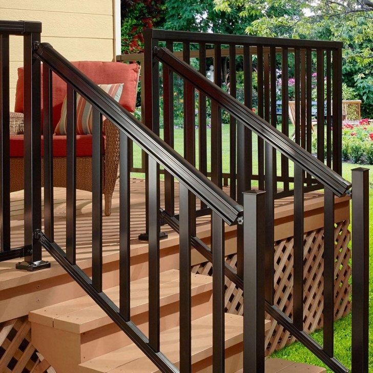 Surprising Metal Stair Railing Home Depot Image 224