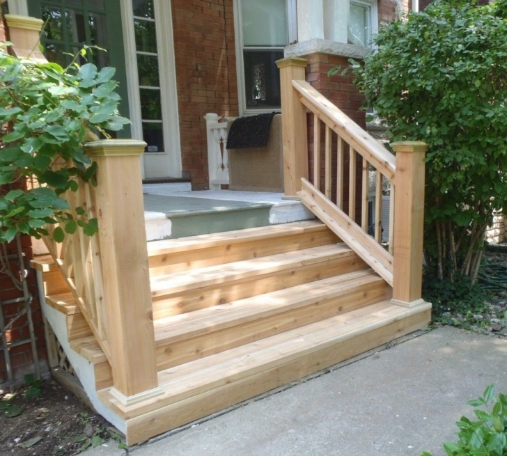 Surprising Outdoor Wood Stair Railing Picture 205