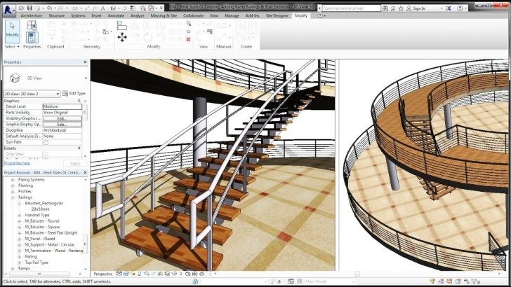 Surprising Revit Metal Stairs Picture 863