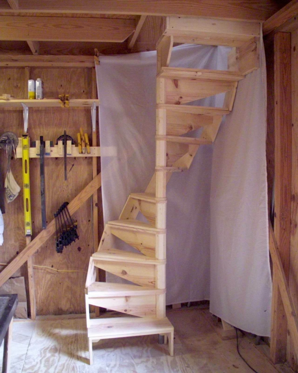 Surprising Spiral Staircase To Attic Bedroom Picture 894