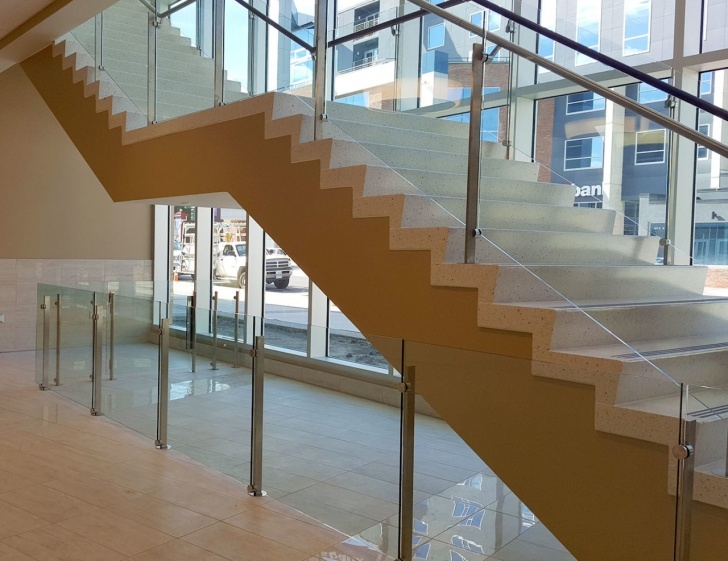 Surprising Stair Glass Handrail Image 244