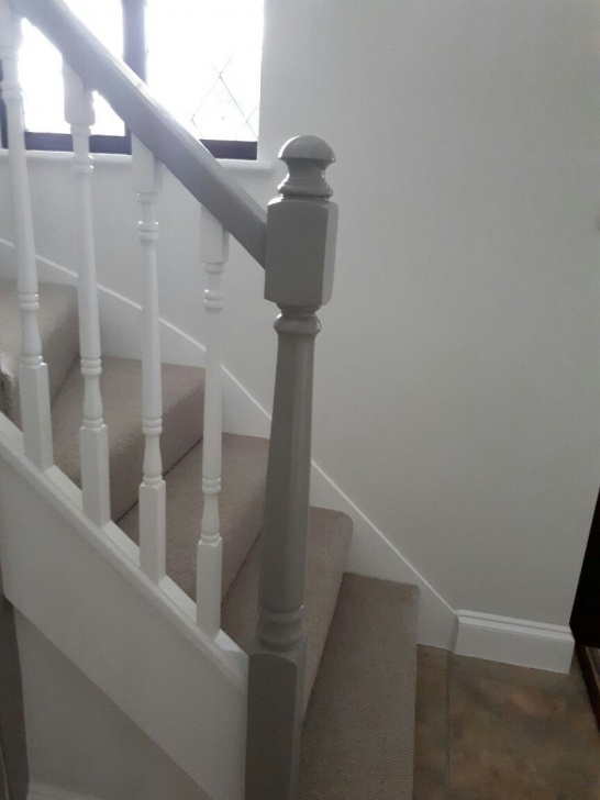 Surprising White Stair Handrail Photo 320