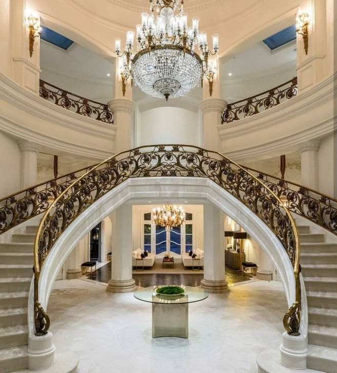 Top Mansion Stairs Design Photo 440