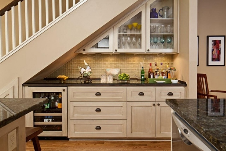 Top Mini Bar Design Under The Stairs Picture 594