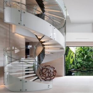 Modern Curved Staircase
