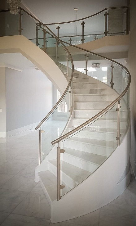 Top Round Stairs Railing Design Image 617
