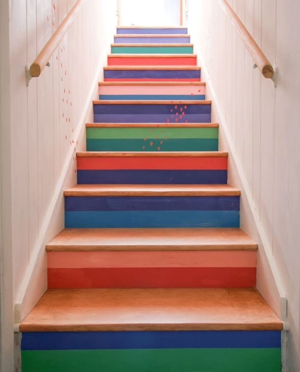 Top Sanding Painted Stairs Image 973