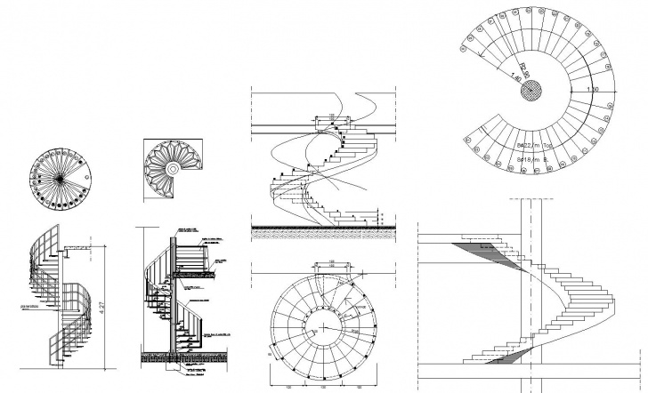 Top Spiral Staircase Autocad Picture 238