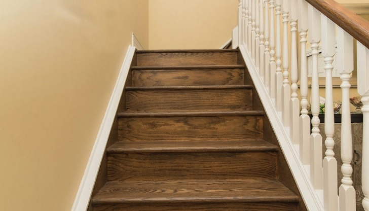 Top Stairs Covered In Wood Picture 589