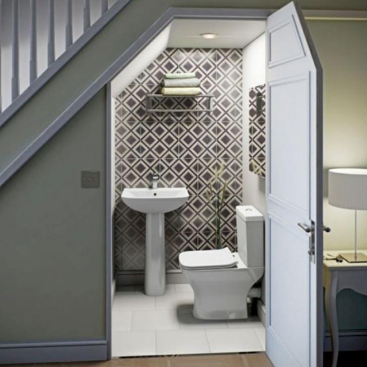 Top Under Stair Toilet Design Photo 091