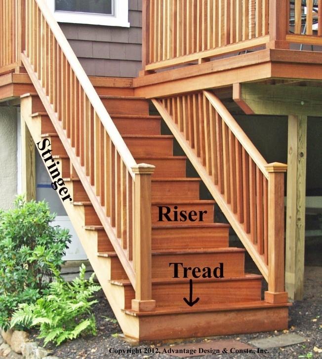 Top Wood Deck Stair Railing Photo 151