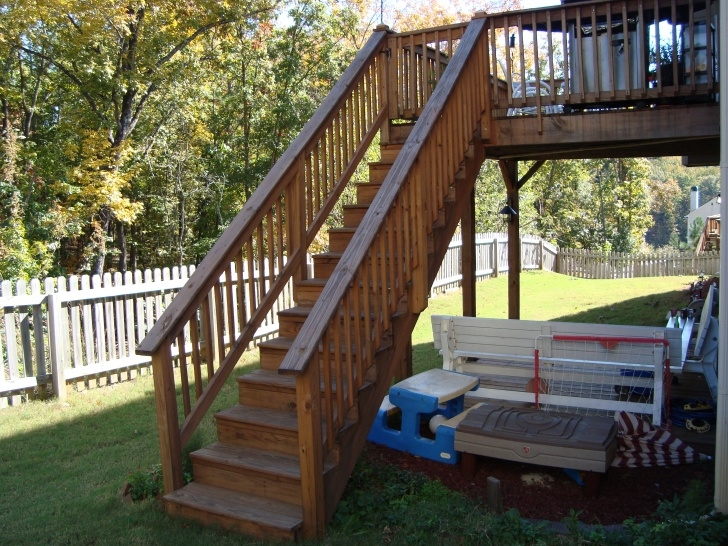 Top Wood Deck Stairs Designs Picture 691