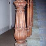 Top Wooden Staircase Pillar Designs Photo 119