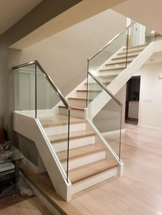 Top Wooden Staircase With Glass Panels Image 358