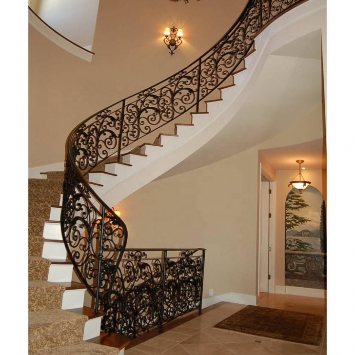 Top Wrought Iron Stair Railing Picture 529