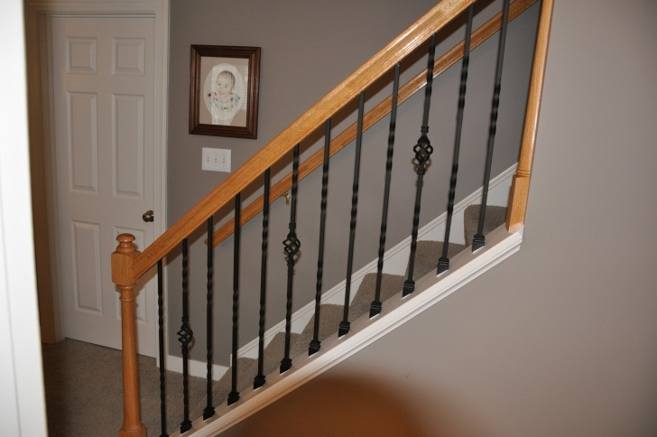 Top Wrought Iron Stair Railings Interior Picture 986