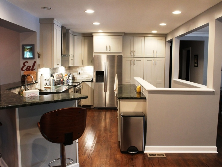 Wonderful Basement Stairs In Middle Of Kitchen Image 164