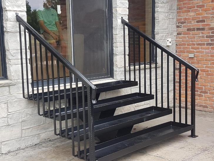 Wonderful Exterior Steel Stairs Image 517