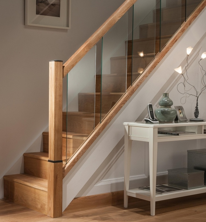 Wonderful Oak Handrail For Glass Picture 146